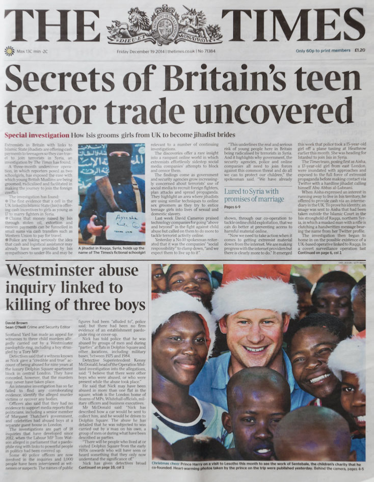 THE TIMES – DECEMBER 2014