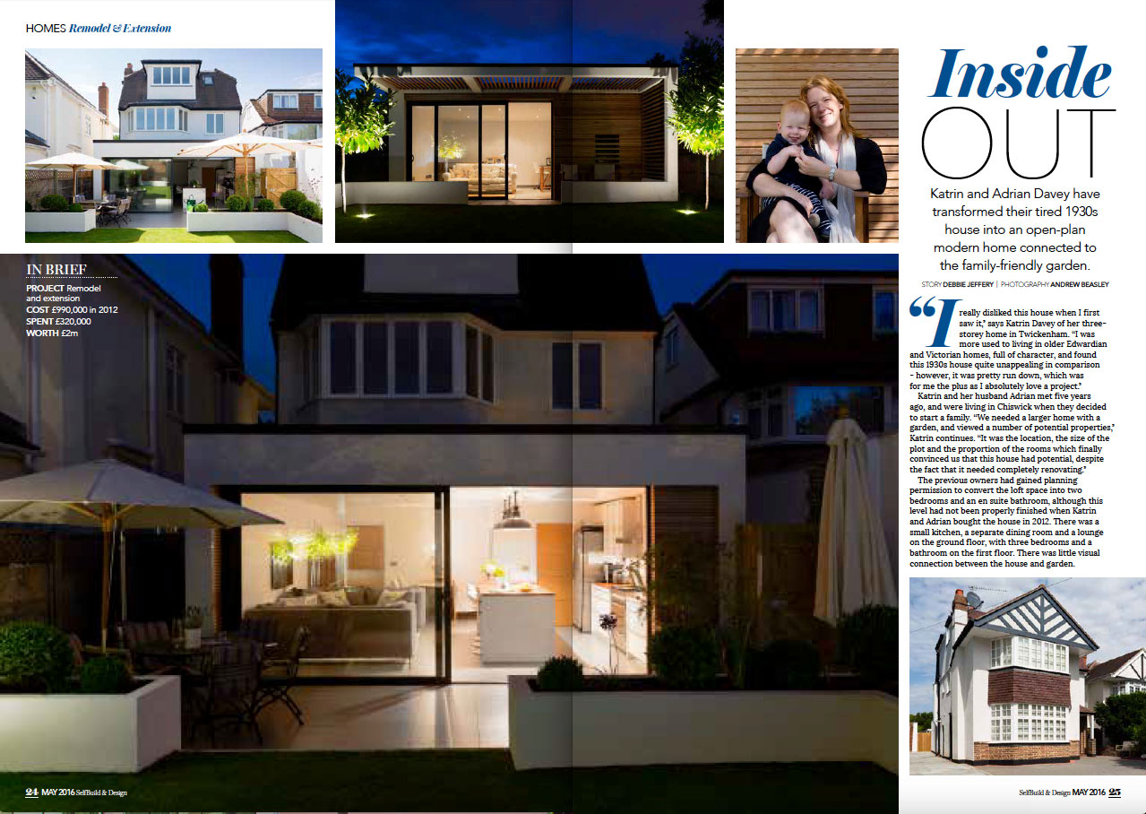 SELF BUILD & DESIGN - MAY 2016 2