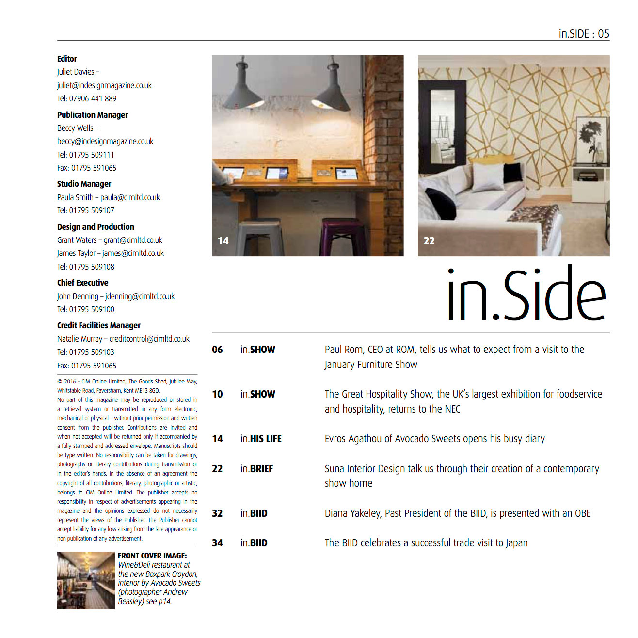 IN DESIGN - COVER SHOT - JANUARY 2017 2
