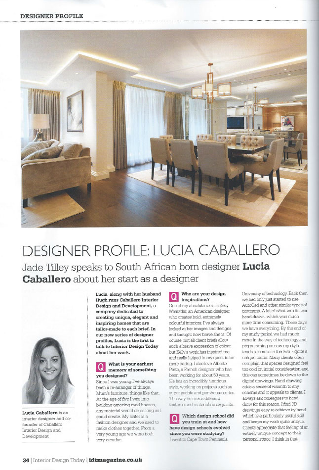 INTERIOR DESIGN TODAY - COVER SHOT - JANUARY 2013 2